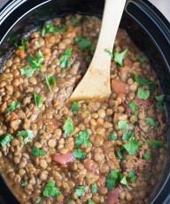 Slow Cooker Moroccan Lentil Soup | This Gal Cooks #dinner