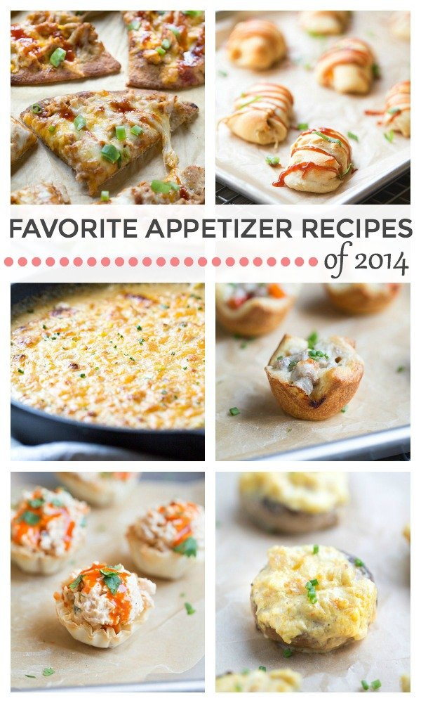 My Favorite Appetizer Recipes of 2014 are perfect for your New Years Eve or Football Party Menu!