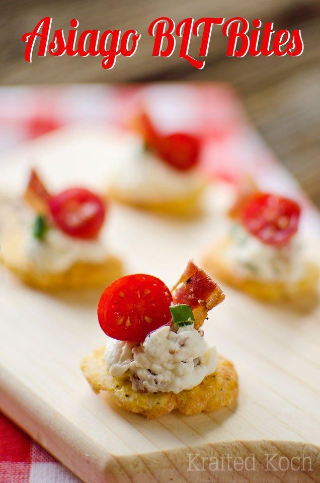 Asiago BLT Bites | Krafted Koch