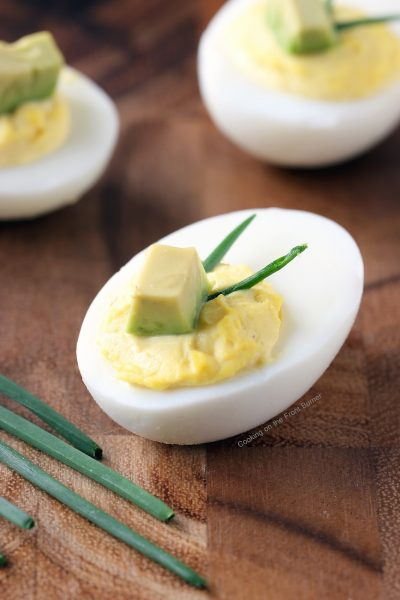 Avocado Deviled Eggs | Cooking On The Front Burner