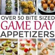 Over 50 Bite Sized Game Day Appetizers
