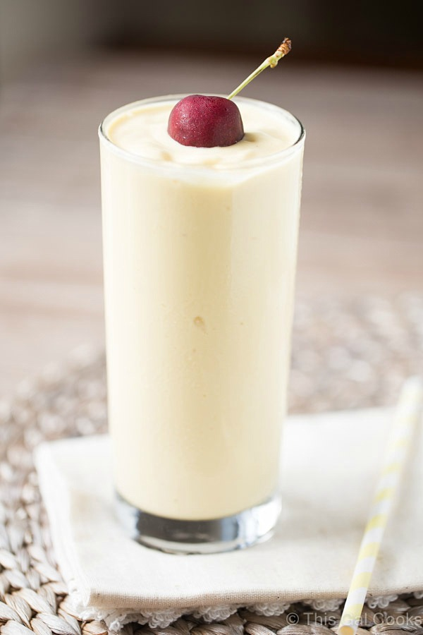 This dairy free Pina Colada Smoothie is full of pineapple, coconut milk and mango. So smooth and creamy and perfect for breakfast, too!