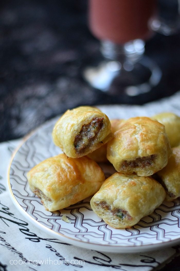 Puff Pastry Sausage Rolls | Cooking With Curls