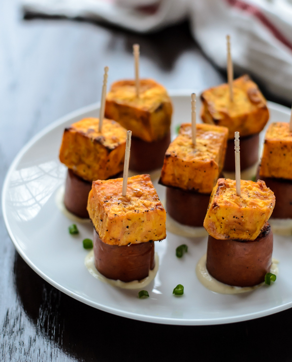 Sweet Potato Sausage Skewers | Well Plated