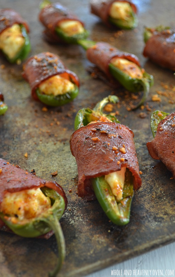 Sweet n Spicy Bacon Wrapped Jalapeno Poppers | Whole and Heavenly Oven
