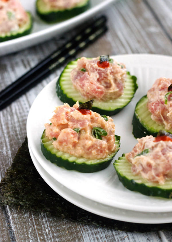 Spicy Tuna Bites | Food Faith Fitness