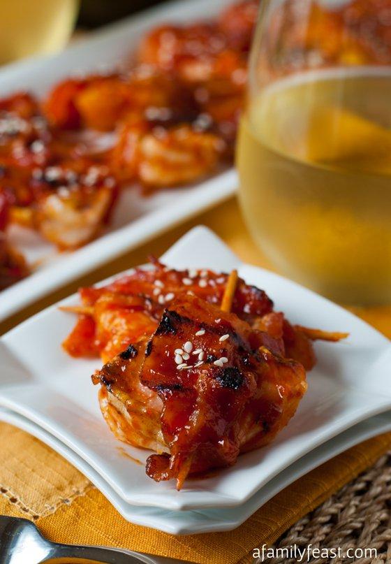 Shrimp Pineapple Bacon Bites | A Family Feast