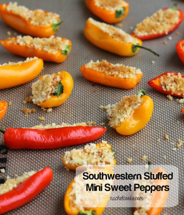 Southwestern Stuffed Mini Sweet Peppers | Rachel Cooks