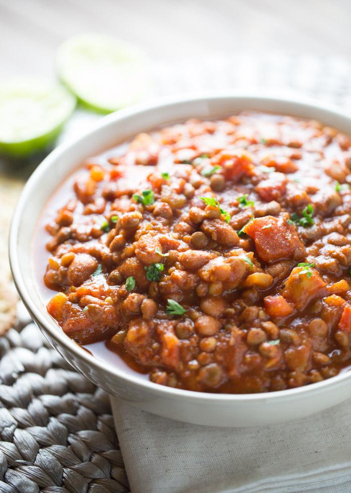 20 Minute Easy Vegan Lentil Chili This Gal Cooks