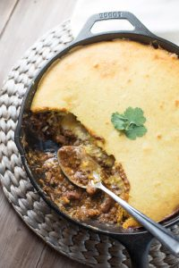 For dinner: Easy Tamale Pie that's made in one skillet!