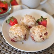 Strawberry Muffins with Coconut Oil and Greek Yogurt