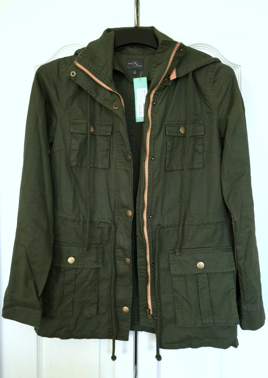 Stitch Fix #9: Chaplin Hooded Anorak Cargo Jacket | This Gal Cooks