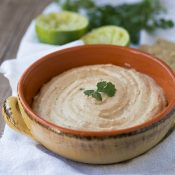 Easy Blender Cilantro Lime White Bean Hummus