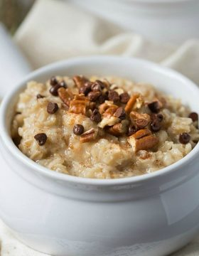 Homemade Maple Brown Sugar Oatmeal | This Gal Cooks