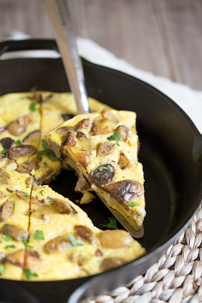 Potato Frittata With Chicken Sausage This Gal Cooks