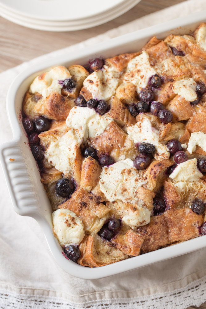 For breakfast: Croissant French Toast Casserole | This Gal Cooks