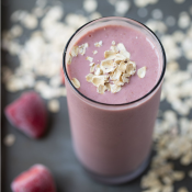 Strawberry Banana Oatmeal Protein Smoothie