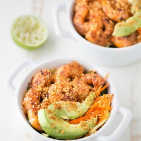 Spicy Shrimp Cucumber Noodle Bowl