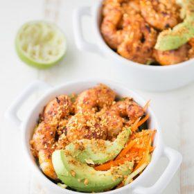 Spicy Shrimp Cucumber Noodle Bowl