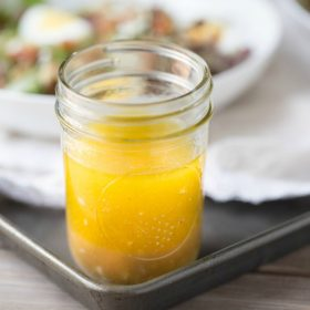 Honey Balsamic Vinaigrette. Homemade. no weird ingredients,. Use it on salads, carrots and brussels sprouts. | This Gal Cooks