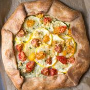 Summer Squash Tart with Pattypan and Heirloom Tomatoes. | This Gal Cooks