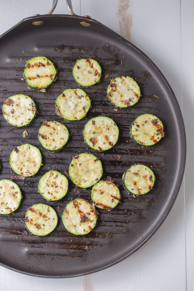 Garlic Parmesan Herb Zucchini. A healthier side dish alternative with no sugar and only 83 calories per serving! | This Gal Cooks