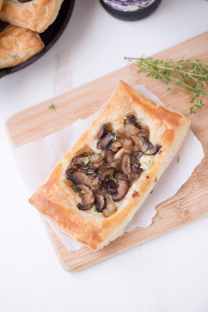 Mushroom Brie Pastries. Serve with a salad for an incredible main dish. Serve solo as an appetizer!