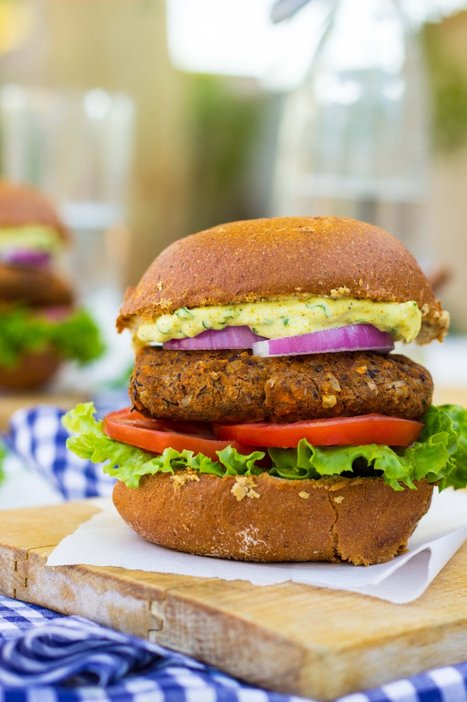 Smokey-Sweet-Potato-Black-Bean-Brown-Rice-Veggie-Burgers-with-Curry-Cilantro-Mayo-9997-682x1024