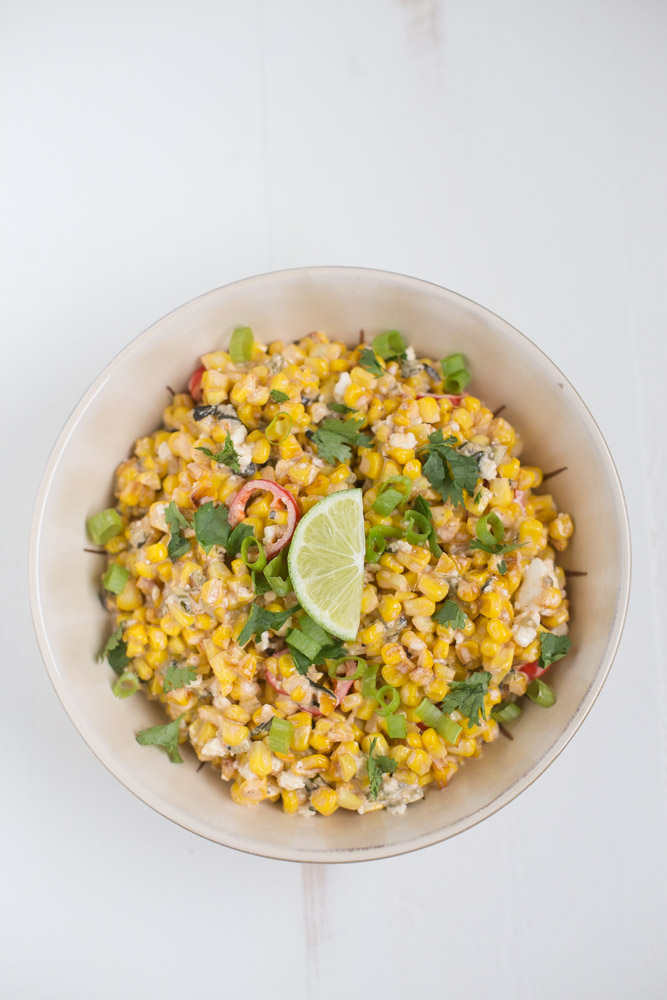 Street Corn Salad (vegetarian + vegan option)
