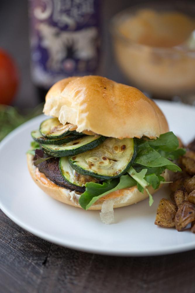 Blackened Portobello Burger
