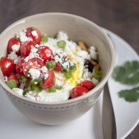 Savory Breakfast Oatmeal (tex-mex style)