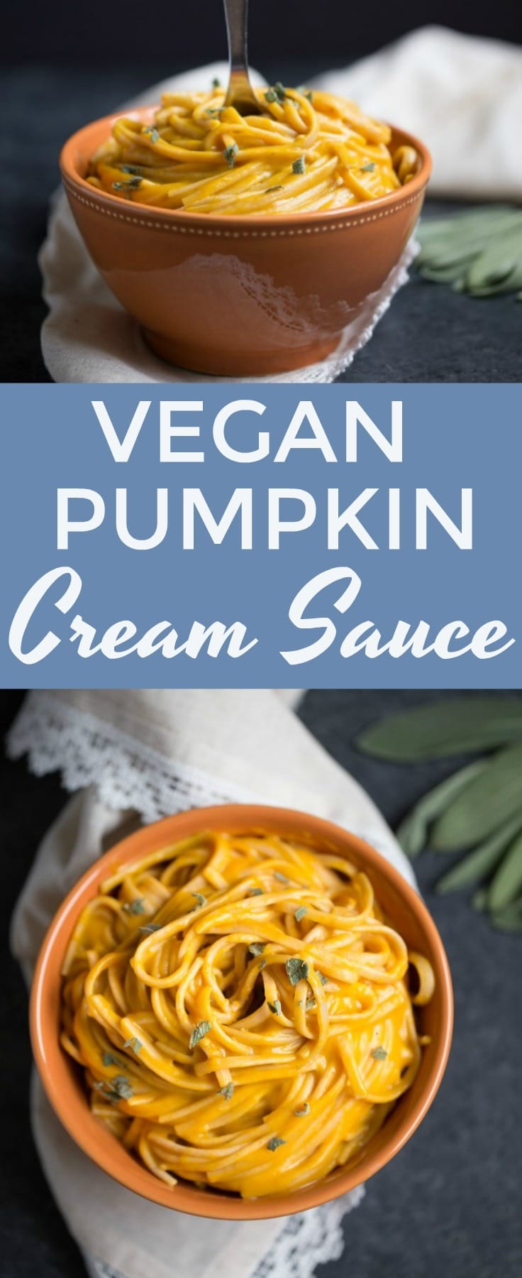 The creamiest #vegan pumpkin cream sauce you'll ever try! Perfect for pasta, dipping, pizza or burritos! #pumpkin #savory #vegetarian