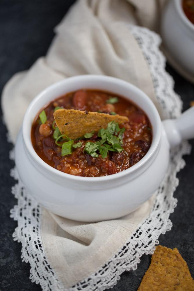 Smokey Vegan Quinoa Chili