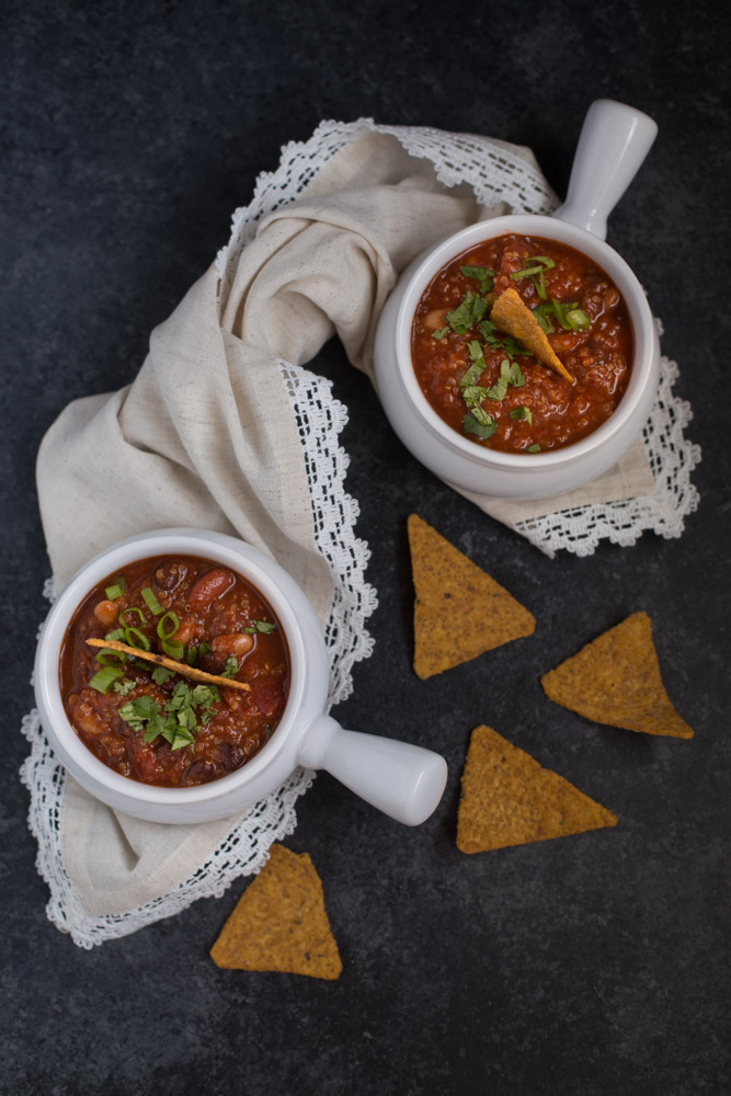 Smokey Vegan Quinoa Chili