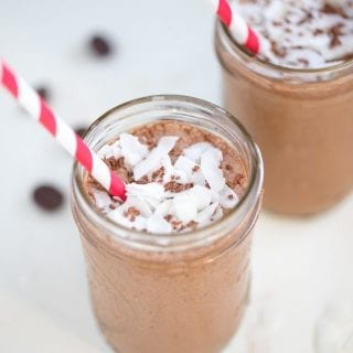 Coconut Mocha Coffee Smoothie.