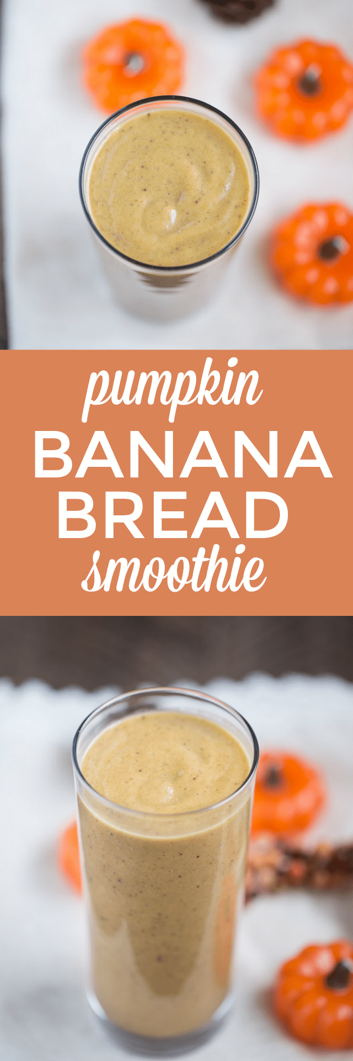 This Pumpkin Banana Bread Smoothie is thick and creamy and actually tastes like banana bread! The not so secret ingredient? FIGS!