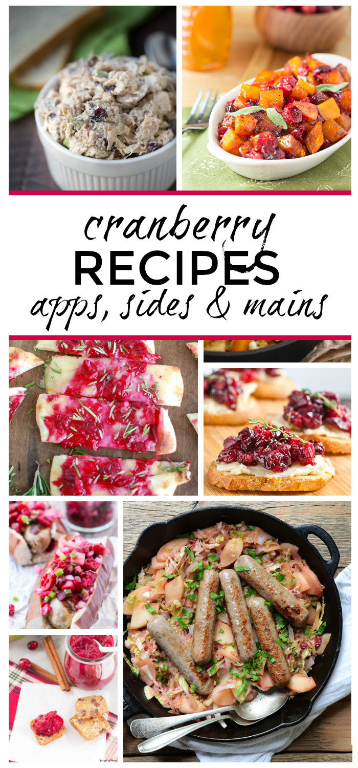 Over 15 Cranberry Recipes. You'll find appetizers, side dishes and main dishes in this recipe collection!