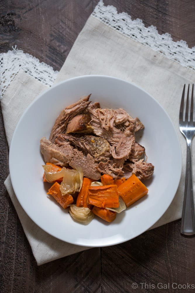 Slow Cooker Chuck Roast with Carrots | This Gal Cooks