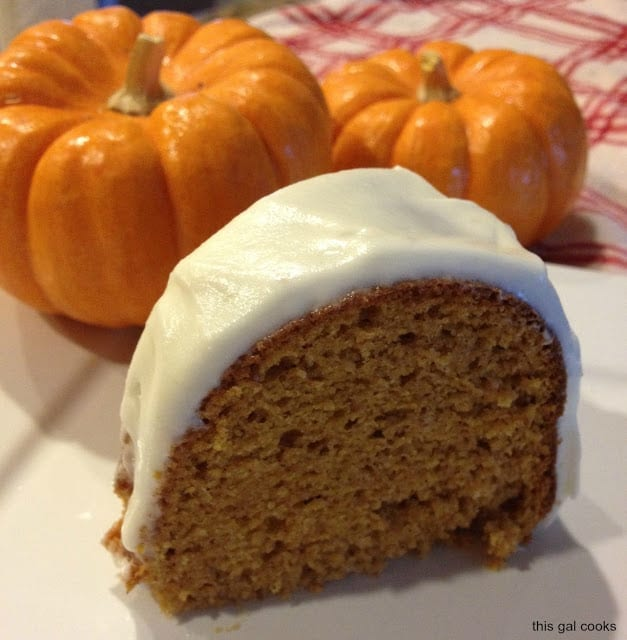 This easy pumpkin spice cake is super moist and full of bold fall flavors! You'll love this fall favorite cake and the cream cheese icing, too!