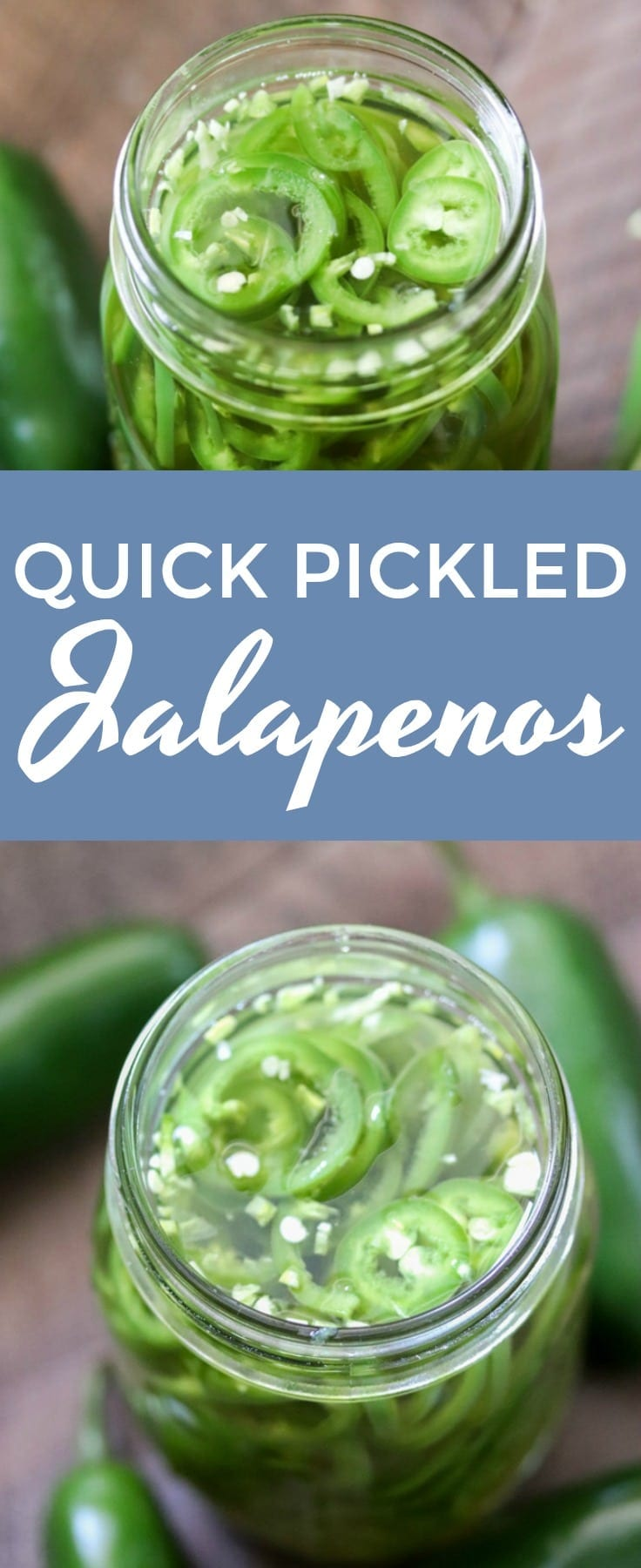 Quick pickled jalapeños are a life saver for jalapeno fans that want a pickled jalapeños right now! These pickled jalapeños are ready for use in all of your recipes in under an hour.