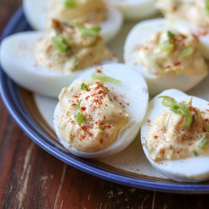 Spicy Southern Deviled Eggs (and Virtual Baby Shower