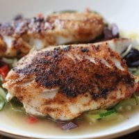 Black Sea Bass with Zucchini Noodles