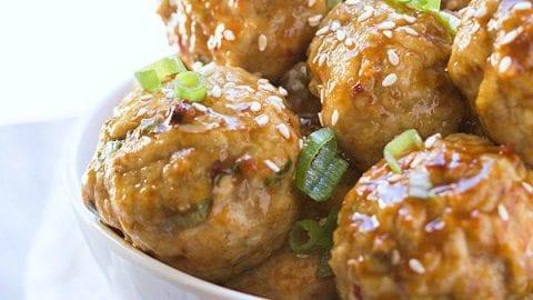 Asian chicken meatball final, sorry