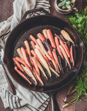 Roasted Rainbow Carrots | This Gal Cooks