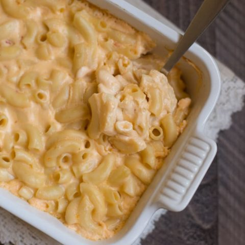 Baked Four Cheese Macaroni and Cheese