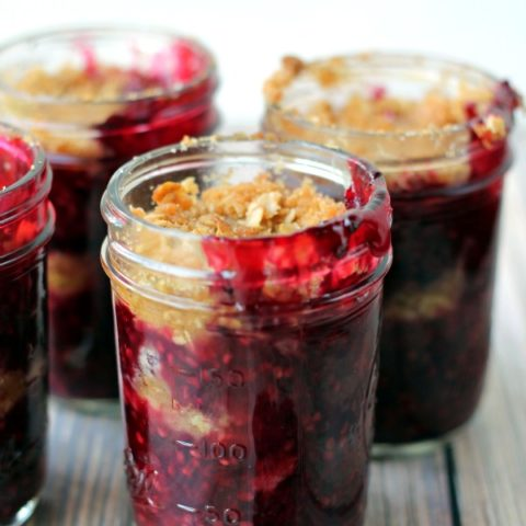 Blackberry Crisp in a Jar