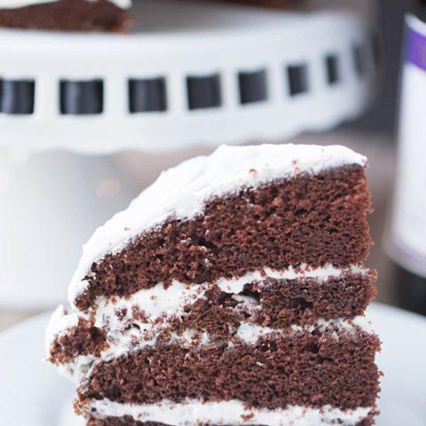 Chocolate Cabernet Cake with Vanilla Bean Buttercream