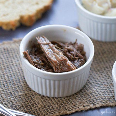 Super Simple Crockpot Roast Beef