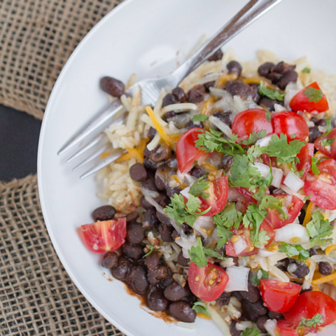 Easy Vegetarian Taco Bowl