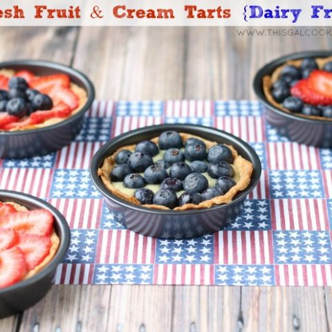 Fresh Fruit & Cream Tarts (Dairy Free)